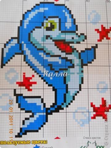 Дельфинчик...))) Дельфин на самом деле был один,а остальную декорацию придумала сама,кроме несколько звездочек и шаров воздуха...)  фото 2