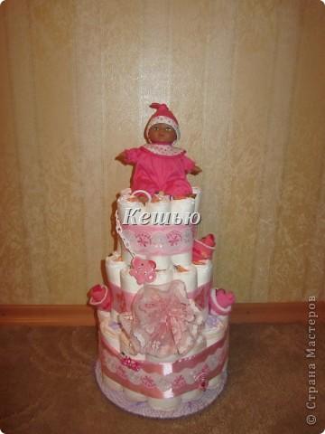 мой первый торт из памперсов =) фото 2