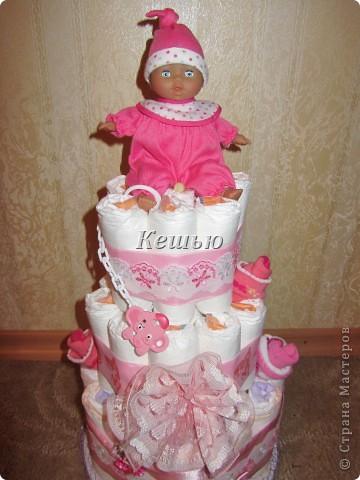 мой первый торт из памперсов =) фото 1
