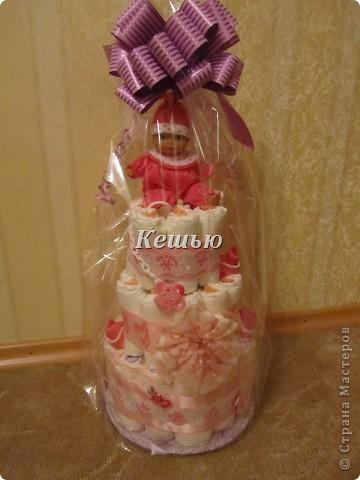 мой первый торт из памперсов =) фото 4