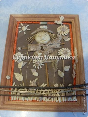 Картина панно рисунок Лепка Чучело огородное  Клей Материал природный Тесто соленое фото 2