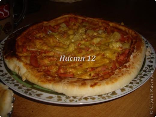 Вчера опять радовала папу и маму на этот раз пиццей.  фото 1