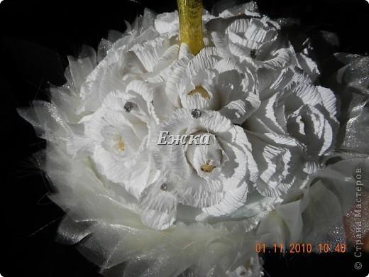 """Букет- """"Зонтик невесты"""" Эта работа - подарок на свадьбу невесте.  фото 2"""