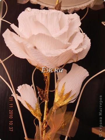 """Букет- """"Зонтик невесты"""" Эта работа - подарок на свадьбу невесте.  фото 3"""