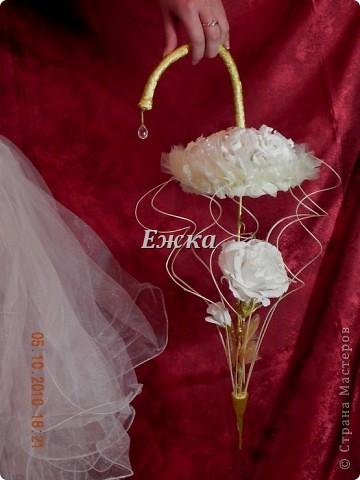 """Букет- """"Зонтик невесты"""" Эта работа - подарок на свадьбу невесте.  фото 1"""