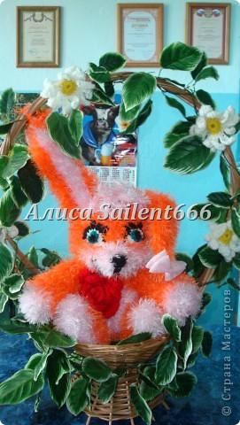 Игрушки вязанные (лунтик, цыганка, заяц, поросёнок, гусеница, смешарики - Крош и Ёжик) фото 3