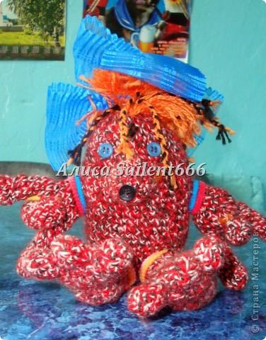 Игрушки вязанные (лунтик, цыганка, заяц, поросёнок, гусеница, смешарики - Крош и Ёжик) фото 5