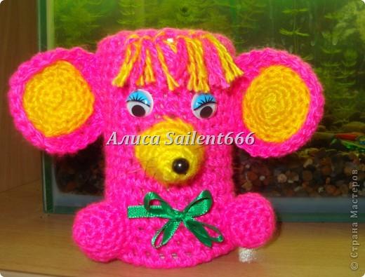 Карандашницы (игрушки вязанные) фото 1