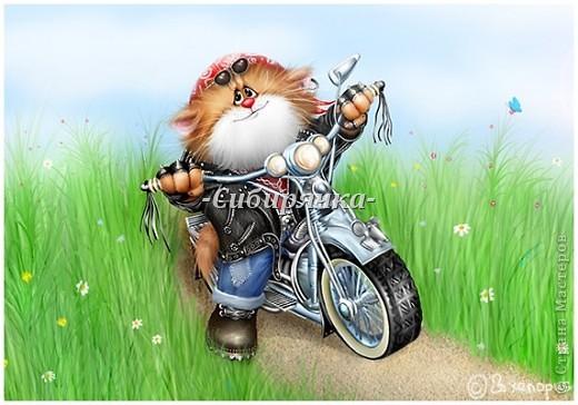 Доброго времени суток! Хочу рассказать Вам о том, как слепился у меня вот такой мотоциклист. Извиняюсь за качество фотографий, поскольку все они были сделаны на телефон. фото 2