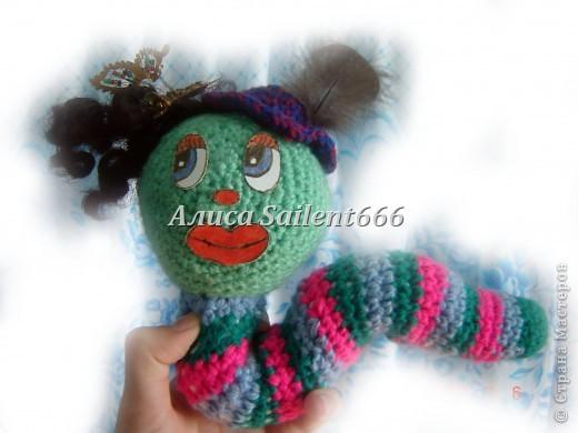 Игрушки вязанные (лунтик, цыганка, заяц, поросёнок, гусеница, смешарики - Крош и Ёжик) фото 11