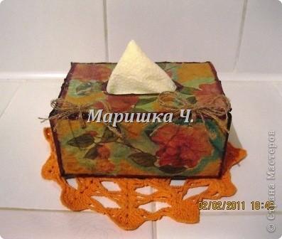 Очередная коробочка для специй и салфетница для подруги фото 2