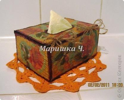 Очередная коробочка для специй и салфетница для подруги фото 3