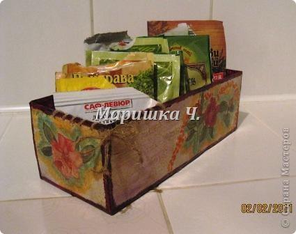 Очередная коробочка для специй и салфетница для подруги фото 4