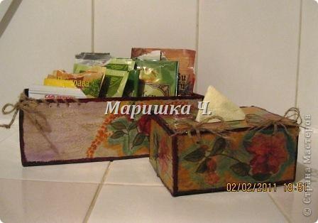 Очередная коробочка для специй и салфетница для подруги фото 1