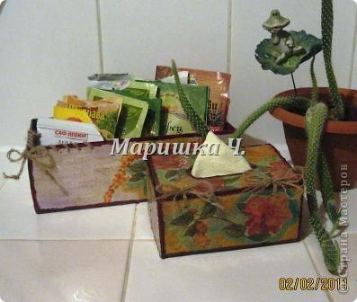 Очередная коробочка для специй и салфетница для подруги фото 5