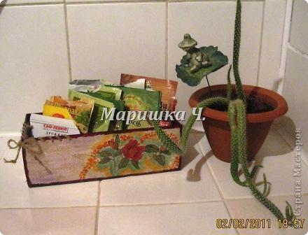 Очередная коробочка для специй и салфетница для подруги фото 6