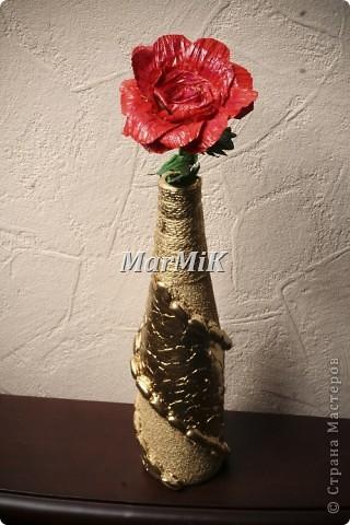 Цветок из бумажной бечевки фото 2