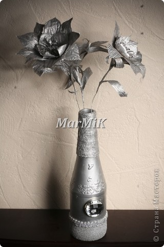Цветок из бумажной бечевки фото 4