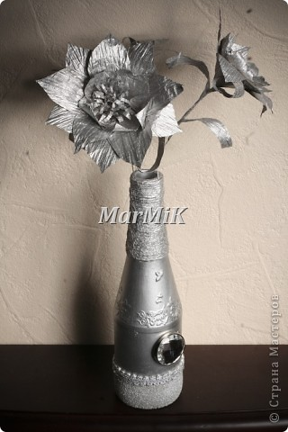 Цветок из бумажной бечевки фото 5