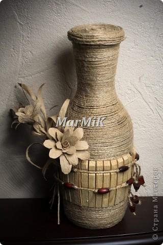Цветок из бумажной бечевки фото 8