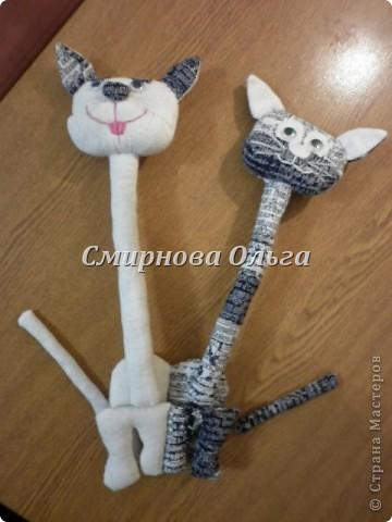 Этих котиков я подарю сыну и его девушке на День Влюблённых. фото 12