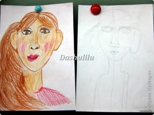 Учимся рисовать портрет фото 4