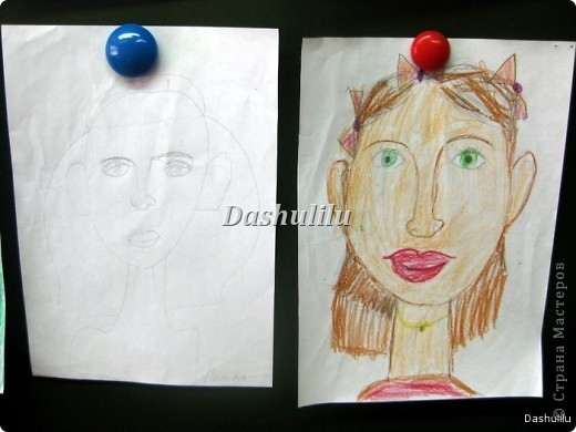 Учимся рисовать портрет фото 7