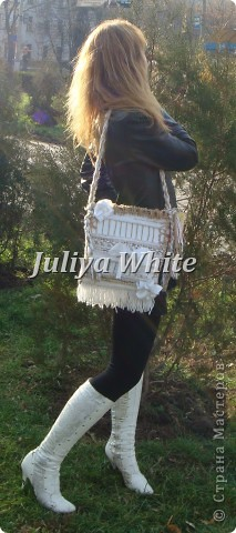 """ГОБЕЛЕН сумка """"White"""" фото 3"""