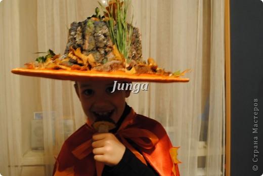 """Вот такой костюм сделали мы с сыном на конкурс осенних костюмов. Назвали его """"Хозяин осеннего леса"""" (Прошу не судить строго, это мой первый МК :)) фото 15"""