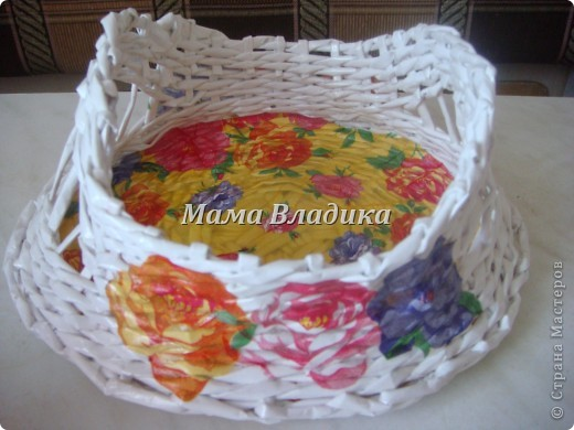 Моя первая (надеюсь, что и не последняя) плетеночка-конфетница фото 1