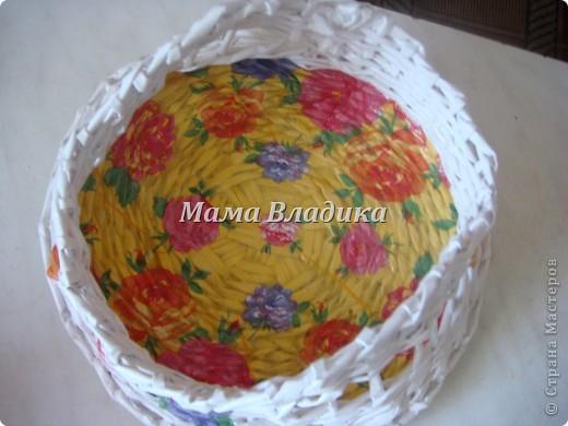 Моя первая (надеюсь, что и не последняя) плетеночка-конфетница фото 2