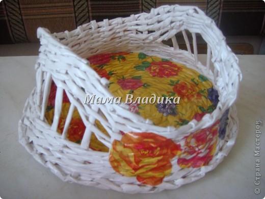 Моя первая (надеюсь, что и не последняя) плетеночка-конфетница фото 3