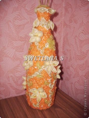 Подарочные вазочки из бутылок и макарон!!! фото 8