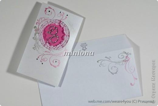 бумага, кружево, горячий эмбоссинг, роспись, стразы фото 1