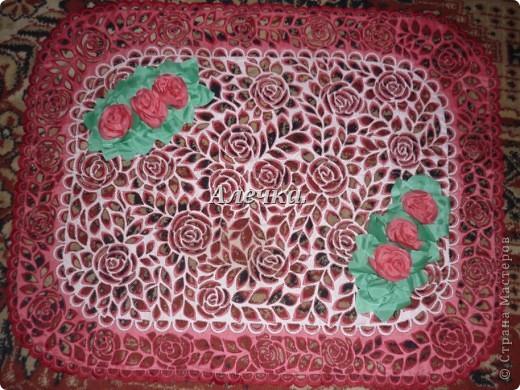 Салфетка с цветами фото 2