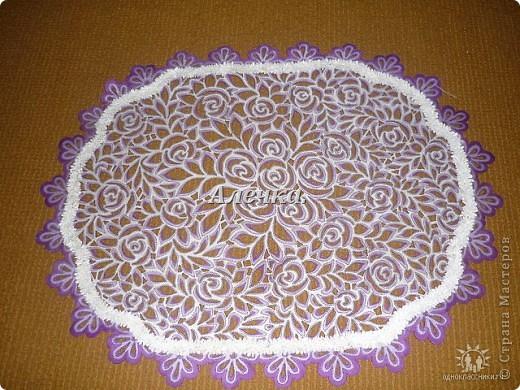 Салфетка с цветами фото 5