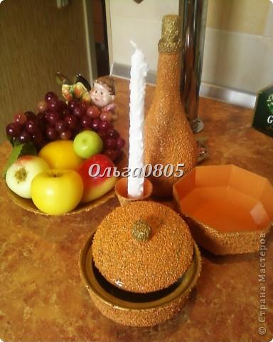 """Набор""""Оранжевое настроение"""",работа выполнена с применением крупы, клея ПВА, гуаши, лака. фото 6"""