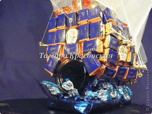 """Корабль создане из более килограмма и бутылки коньяка """"Тиса"""" фото 3"""