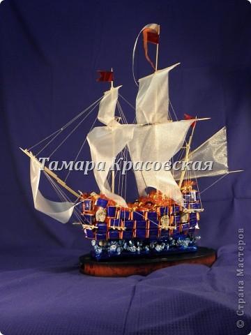 """Корабль создане из более килограмма и бутылки коньяка """"Тиса"""" фото 2"""
