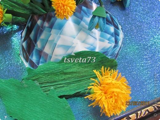 Всем (можно сказать) ВЕСЕННИЙ ПРИВЕТ!!!! В предвестие весны решила сделать весеннюю картинку в голубо-сине-желтых тонах, почему то я вижу в этих цветах весну.... и вот представляю такую композицию.... фото 10