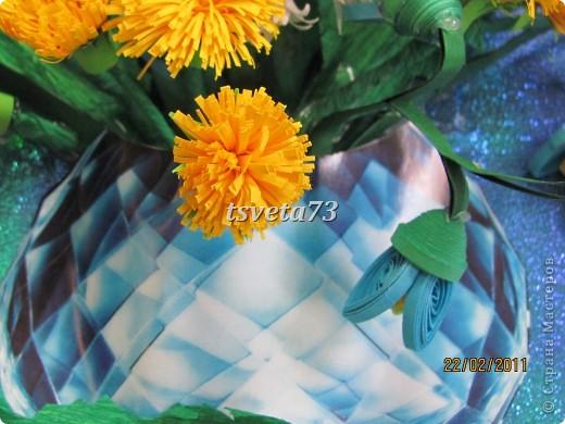 Всем (можно сказать) ВЕСЕННИЙ ПРИВЕТ!!!! В предвестие весны решила сделать весеннюю картинку в голубо-сине-желтых тонах, почему то я вижу в этих цветах весну.... и вот представляю такую композицию.... фото 11