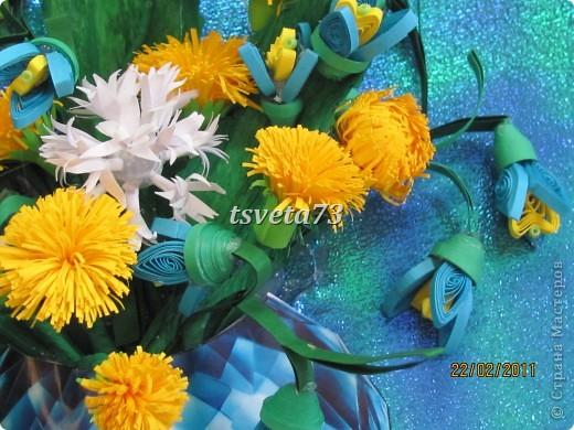 Всем (можно сказать) ВЕСЕННИЙ ПРИВЕТ!!!! В предвестие весны решила сделать весеннюю картинку в голубо-сине-желтых тонах, почему то я вижу в этих цветах весну.... и вот представляю такую композицию.... фото 4