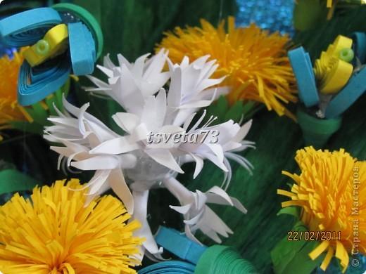 Всем (можно сказать) ВЕСЕННИЙ ПРИВЕТ!!!! В предвестие весны решила сделать весеннюю картинку в голубо-сине-желтых тонах, почему то я вижу в этих цветах весну.... и вот представляю такую композицию.... фото 5