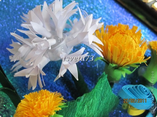 Всем (можно сказать) ВЕСЕННИЙ ПРИВЕТ!!!! В предвестие весны решила сделать весеннюю картинку в голубо-сине-желтых тонах, почему то я вижу в этих цветах весну.... и вот представляю такую композицию.... фото 7