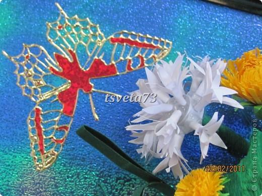 Всем (можно сказать) ВЕСЕННИЙ ПРИВЕТ!!!! В предвестие весны решила сделать весеннюю картинку в голубо-сине-желтых тонах, почему то я вижу в этих цветах весну.... и вот представляю такую композицию.... фото 8