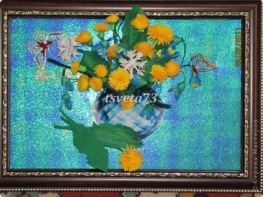 Всем (можно сказать) ВЕСЕННИЙ ПРИВЕТ!!!! В предвестие весны решила сделать весеннюю картинку в голубо-сине-желтых тонах, почему то я вижу в этих цветах весну.... и вот представляю такую композицию.... фото 3