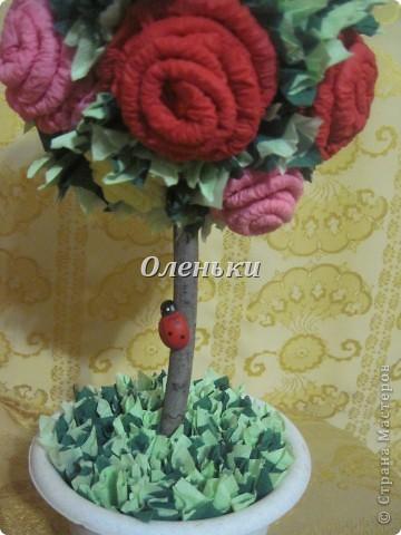 Наш сад растёт! После кофейного дерева http://stranamasterov.ru/node/154400 у нас родилось вот такое чудо - дерево из роз! Это так здорово, получаешь огромное удовольствие от проделанной работы. Хочется творить и творить! фото 3