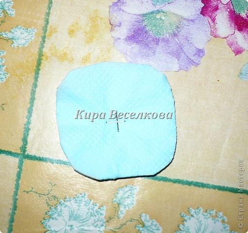 Цветочные шары из салфеток фото 7