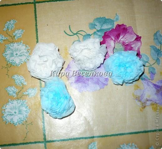 Цветочные шары из салфеток фото 9