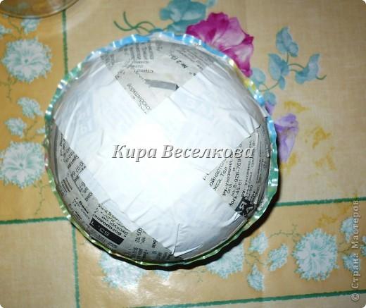 Цветочные шары из салфеток фото 4